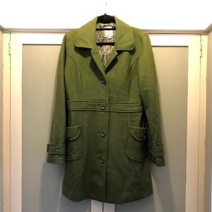 Tulle Olive Green Trench Pea Coat